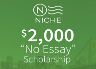 Featured Scholarship Contests Niche  No Essay College Scholarship